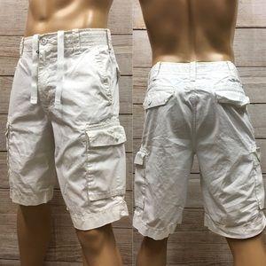 💥Men's Express Preppy designer Cargo Shorts Sz 32